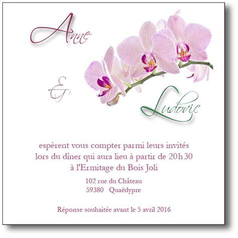 Lettre De Remerciement Mariage Invitation Carte D Invitation Branche D Orchid 233 E Coordonn 233 E Au Faire Part