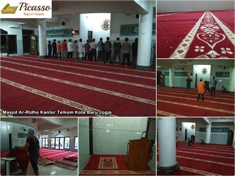 Karpet Sajadah Jogja masjid ar ridho kantor telkom kota baru jogja picasso