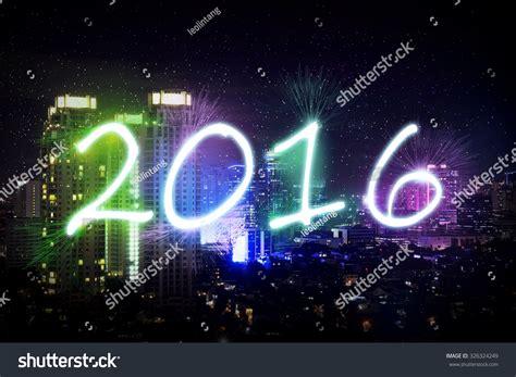 new year jakarta 2016 new year 2016 in jakarta with firework stock photo