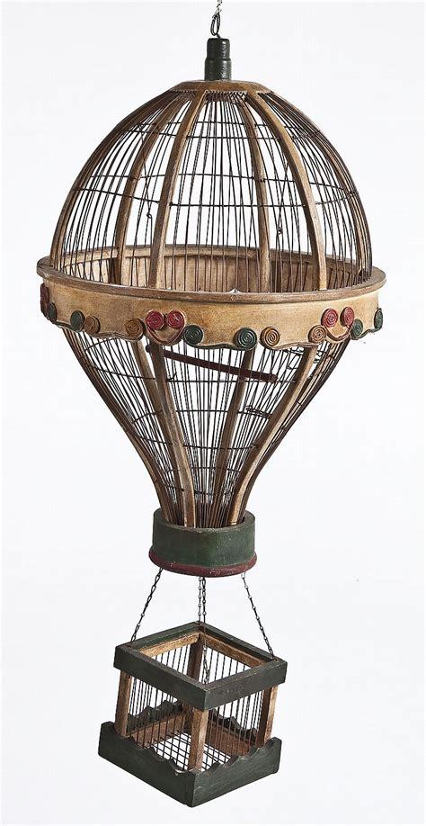 antique hanging air balloon bird cage