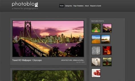 wordpress photoblog themes unique free wordpress themes for photographers wpaisle