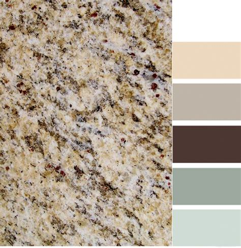 santa cecilia granite with color scheme kitchen ideas
