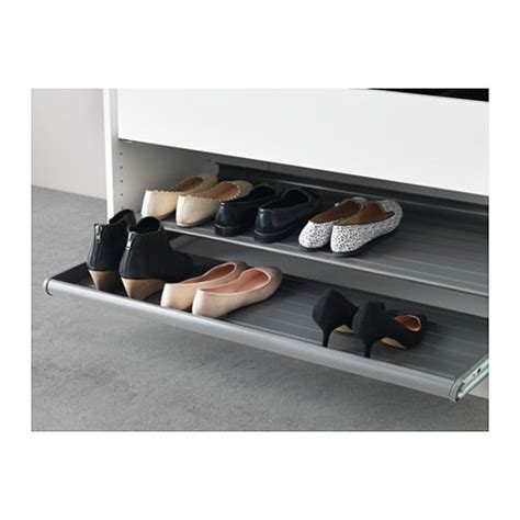 pull out shelves ikea komplement pull out shoe shelf dark grey 100x58 cm ikea
