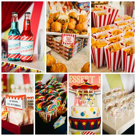 themed food events big top circus birthday party fearon may events