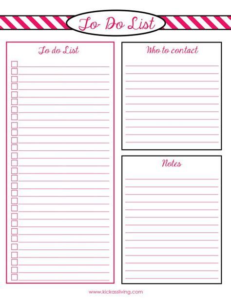 Printable To Do List Pdf