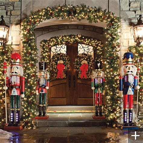 classic decorations outdoors classic outdoor pre lit garland traditional wreaths
