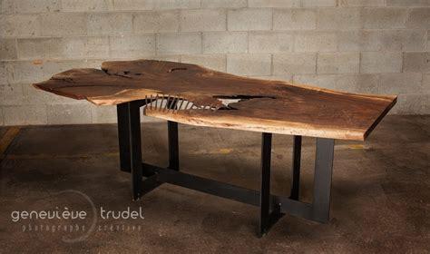 Live Edge Walnut Dining Table Live Edge Black Walnut Dining Table Rip Cage Bois Design Custom Made Hardwood Furniture