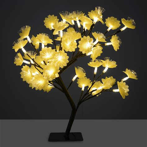 gold fibre optic tree 45cm gold fibre optic led cherry flower tree
