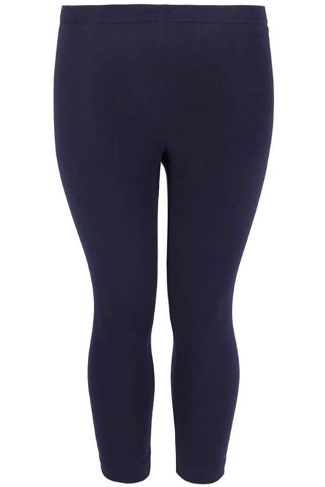 Big Lots Background Check Navy Viscose Elastane Cropped Legging Plus Size 16 To 32