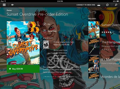 Xbox One Sunset Overdrive Day One Edition Reg3 sunset overdrive available for preload gamer