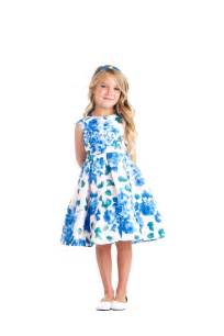 Sweet kids 3d floral print dress blue floral sk676 children s