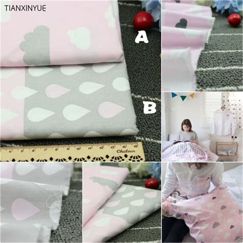 Diy Baby Pillow by 50 160cm 2pcs Lot 100 Cotton Fabric Pink Clouds And