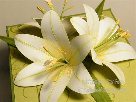 valita s designs fresh folds punched paper lily