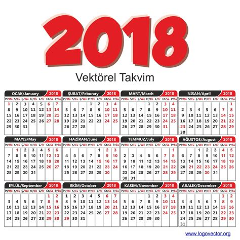 2018 Yili Takvimi Vekt 246 Rel 2018 Takvimi Vekt 246 Rel 199 Izim