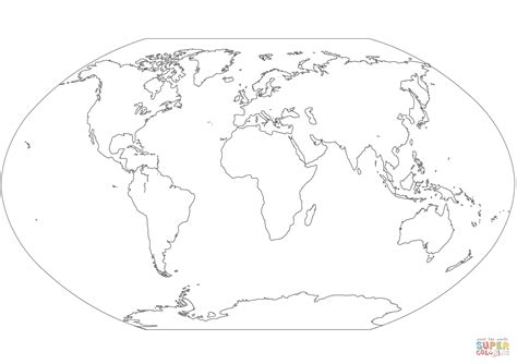 cartoons clipart world map coloring page countries world