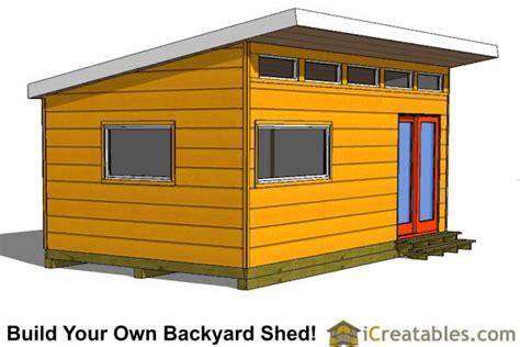 modern studio shed plans  door
