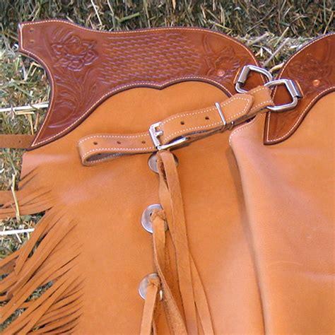 Handmade Cowboy Chaps - buckskin cowboy chinks sidewinder custom chaps