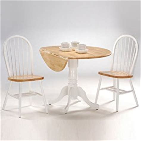 White Drop Leaf Table And Chairs International Concepts 3 42 Inch Dual Drop Leaf Pedestal Table With 2