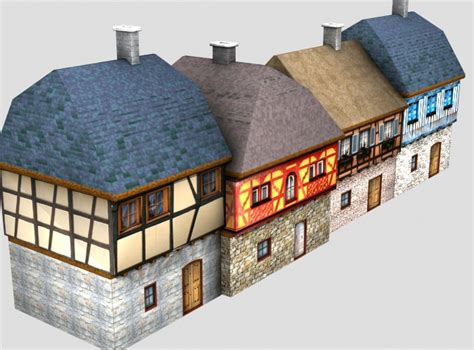 couch street fish house medieval street free 3d model obj fbx lwo lw lws