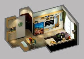 Small House Interior Design small house interior design with aquarium