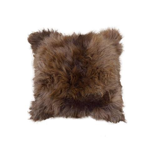 Alpaca Fur Pillows by Alpaca Fur Pillow 18 Quot Tanned Brown Taxidermy Mounts