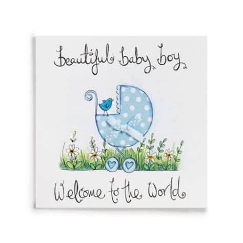 Gift Card Messages For New Baby Boy - welcome to the world handmade new baby boy card 163 3 99 a great range of welcome to