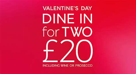 m s meal for 2 valentines day marks and spencer dine in m s
