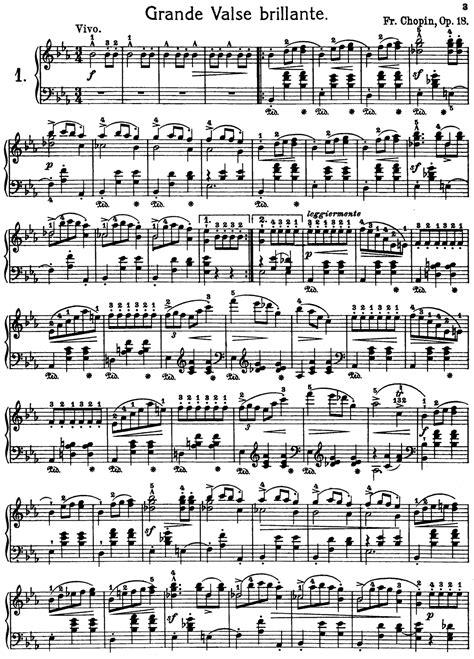 piano music on pinterest sheet music singers and lyrics frederic chopin grand waltz op 18 free printable sheet