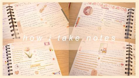 Notes Korea studying korean how i take notes