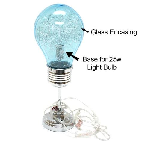 molly n me 96111 17 quot turquoise light bulb table l