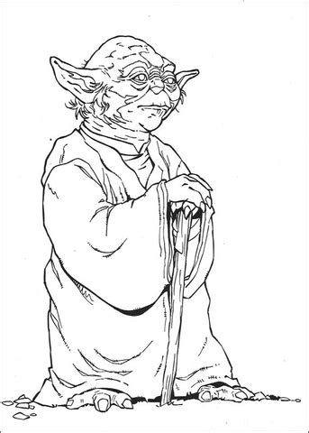Wise Yoda Coloring Page Supercoloring Com Yoda Pictures To Color