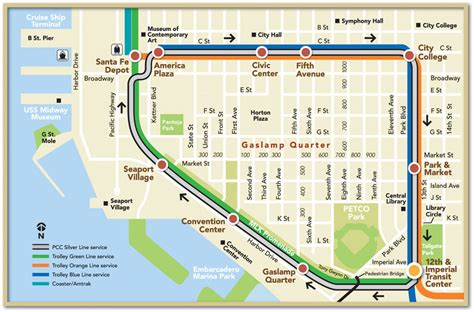 san diego trolley map downtown s doro district secures parking modern cities