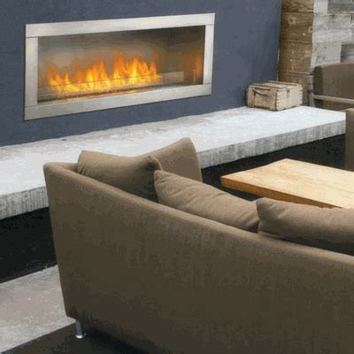 Napoleon Outdoor Fireplaces by Napoleon Gss48 Galaxy Series 1 Sided Outdoor Linear Gas