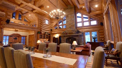 Awesome Home Interiors Awesome Log Home Interior Interior Log Home Open Floor