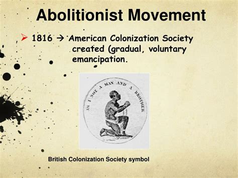 colonization after emancipation lincoln and the movement for black resettlement books ppt abolitionist movement powerpoint presentation id