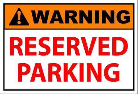reserved parking sign template related keywords reserved