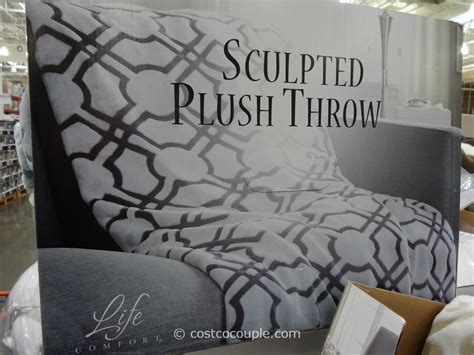 life comfort throw costco life comfort sculpted plush throw