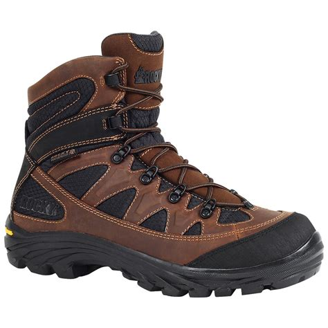 outdoor boots rocky 5 quot ridgetop waterproof hiking boots brown black
