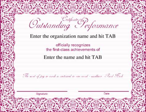 fancy award certificate template