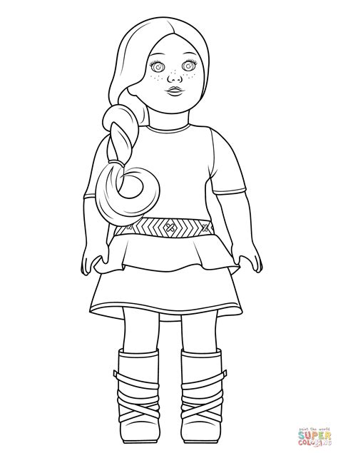 free coloring pages of american girl dolls american girl saige coloring page free printable