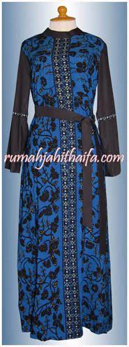 Gamis Batik Padi Hitam gamis muslimah dari kain batik tulis milik mba khusnul di cikarang rumah jahit haifa