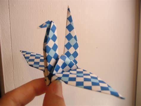 Korean Origami Paper - folding a korean style paper crane the easy way