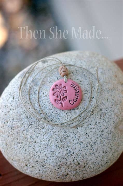 how to make dough jewelry clay word pendants 12