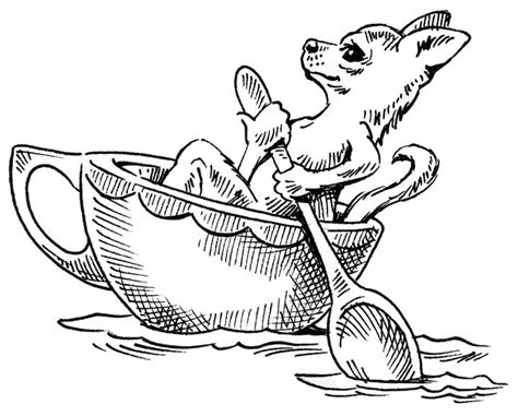 teacup puppies coloring pages chihuahua pencil coloring pages