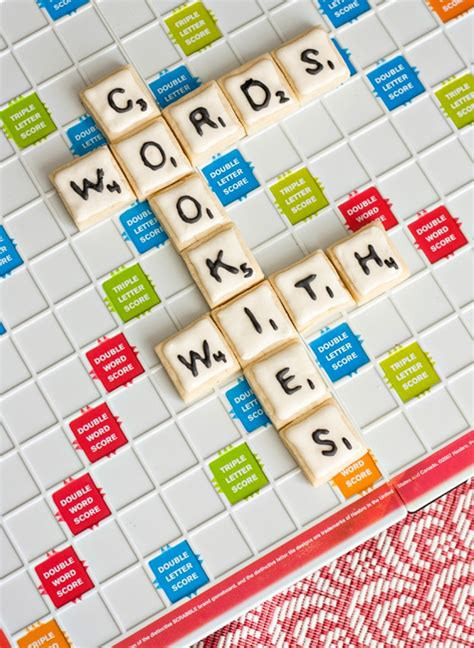 scrabble word with words with cookies scrabble inspired cookie designs bit