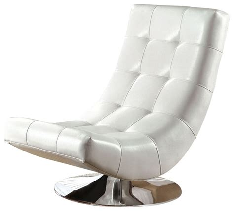 contemporary swivel armchair modern mahogany bycast leather chrome metal swivel accent