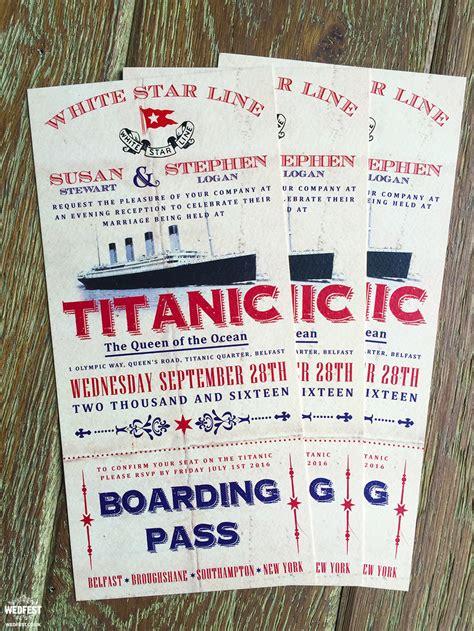 vintage wedding invitations belfast titanic themed wedding invitations wedfest