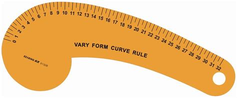 kearing 6505 armhole curve ruler pattern making rulers kearing brand armhole measuring curve ruler art drawing