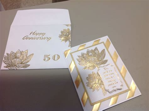 50th Wedding Anniversary Card   Cards I Made   Pinterest