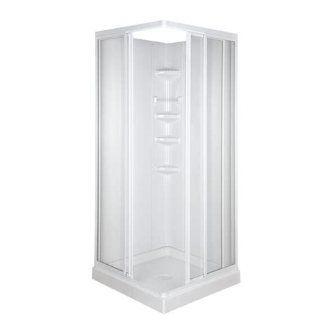 Lowes Bathroom Shower Kits Shop Asb 74 In H X 32 In W X 32 In L High Gloss White Square Corner Shower Kit At Lowes